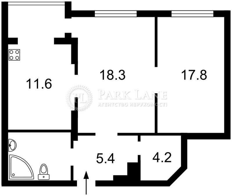 Квартира ул. Днепровская наб., 1а, Киев, R-32082 - Фото 2