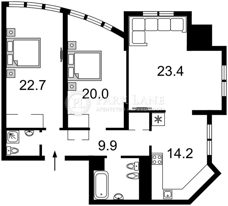 Квартира ул. Дмитриевская, 82, Киев, Z-648525 - Фото 2