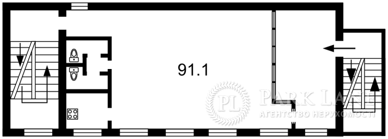 Нежитлове приміщення, B-100304, Хмельницького Богдана, Київ - Фото 3