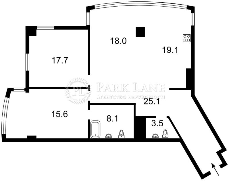 Квартира ул. Иоанна Павла II (Лумумбы Патриса), 6/1, Киев, I-31104 - Фото 2