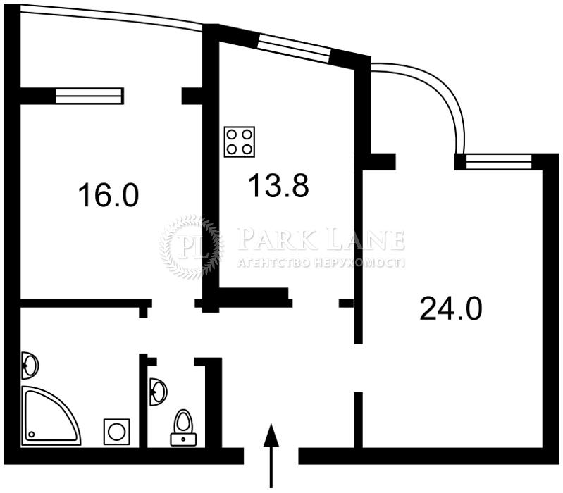 Квартира Голосеевский проспект (40-летия Октября просп.), 68, Киев, Z-666834 - Фото 2