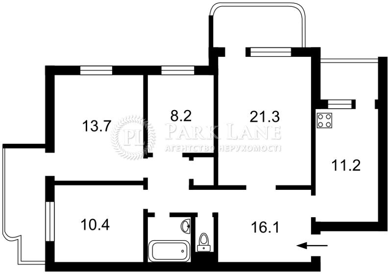 Квартира ул. Тороповського Георгия (Дубового Ивана), 41, Киев, R-33316 - Фото 2