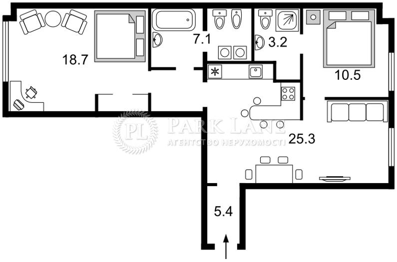 Квартира ул. Большая Житомирская, 16, Киев, L-27583 - Фото 2