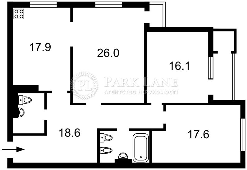 Квартира ул. Днепровская наб., 1, Киев, R-33602 - Фото 2