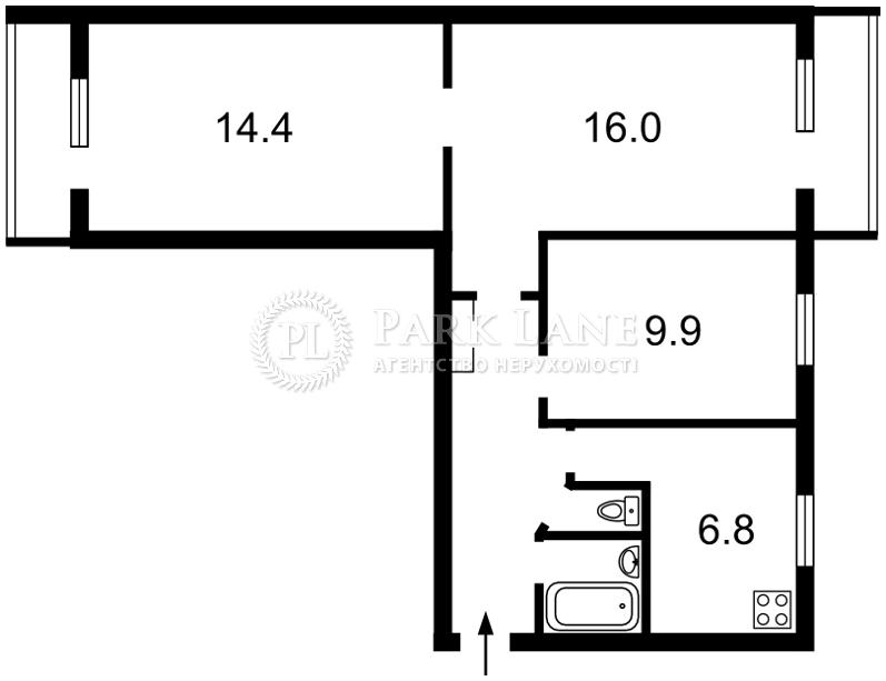 Квартира ул. Окипной Раиcы, 5, Киев, Z-591519 - Фото 2