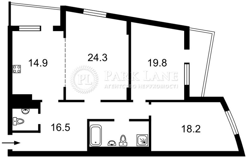 Квартира ул. Окипной Раиcы, 10б, Киев, Z-670665 - Фото 2
