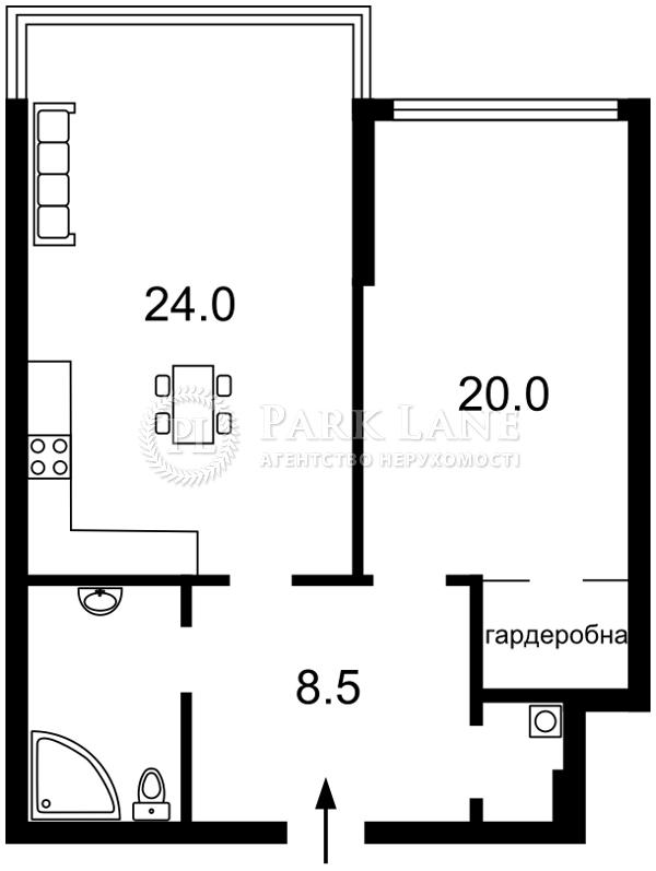 Квартира ул. Трускавецкая, 6в, Киев, Z-680760 - Фото 2