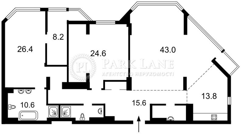 Квартира ул. Болсуновская (Струтинского Сергея), 2, Киев, B-100776 - Фото 2