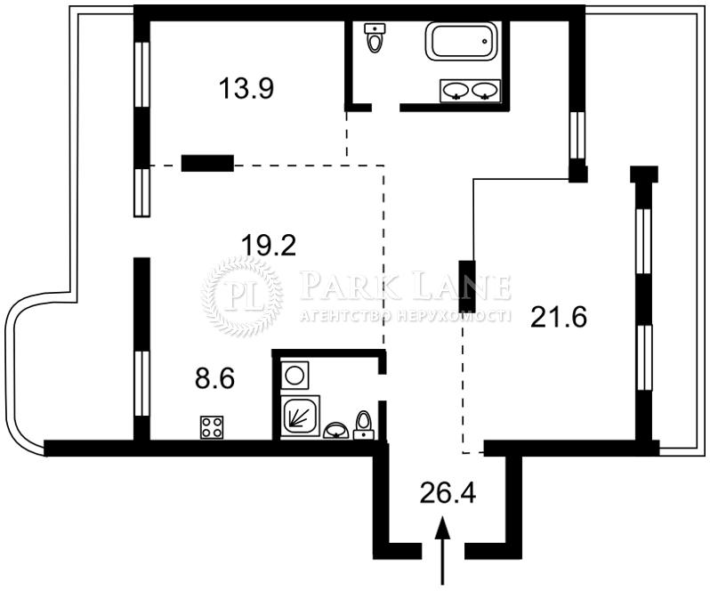 Квартира ул. Кирилловская (Фрунзе), 37, Киев, Z-606660 - Фото 2