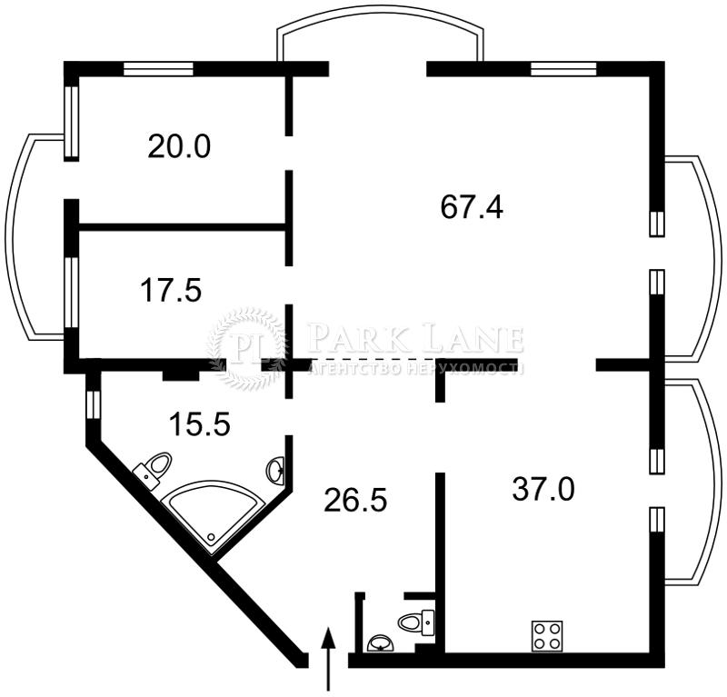 Квартира ул. Антоновича (Горького), 140, Киев, Z-693855 - Фото 2