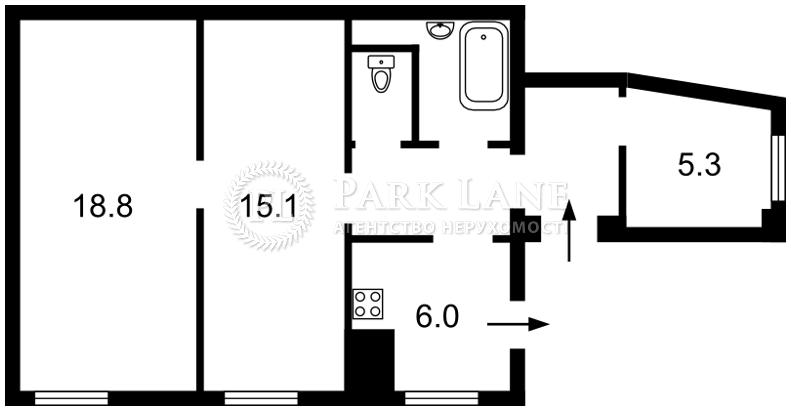 Квартира ул. Сечевых Стрельцов (Артема), 10, Киев, Z-686989 - Фото 2