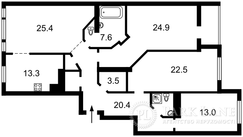 Квартира ул. Щекавицкая, 30/39, Киев, N-22193 - Фото 2