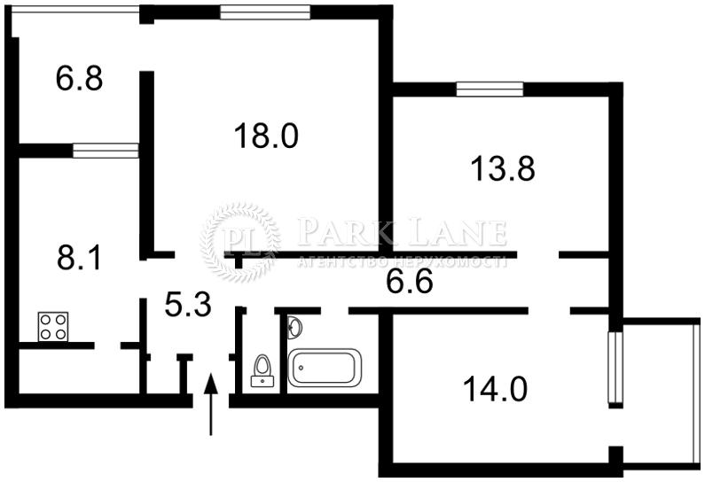 Квартира ул. Гончара Олеся, 52, Киев, R-34692 - Фото 2