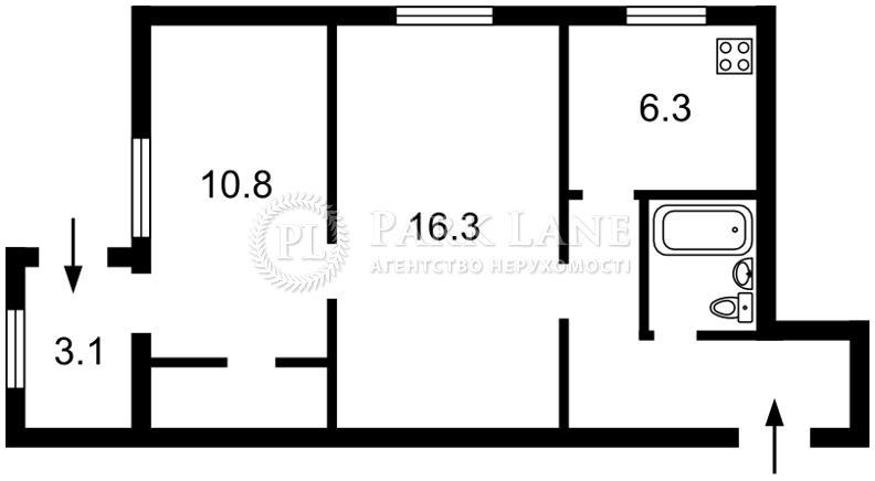 Квартира Мира просп., 6, Киев, Z-692423 - Фото 2