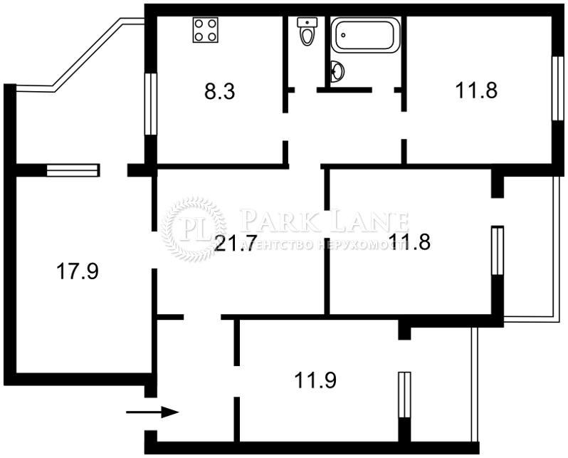 Квартира ул. Цветаевой Марины, 14, Киев, Z-258224 - Фото 2