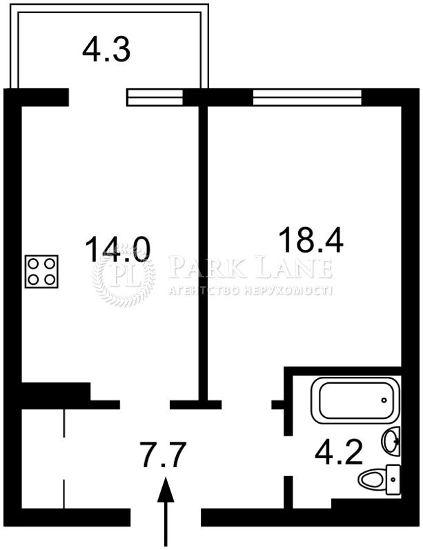 Квартира ул. Воскресенская, 18, Киев, Z-701467 - Фото 2
