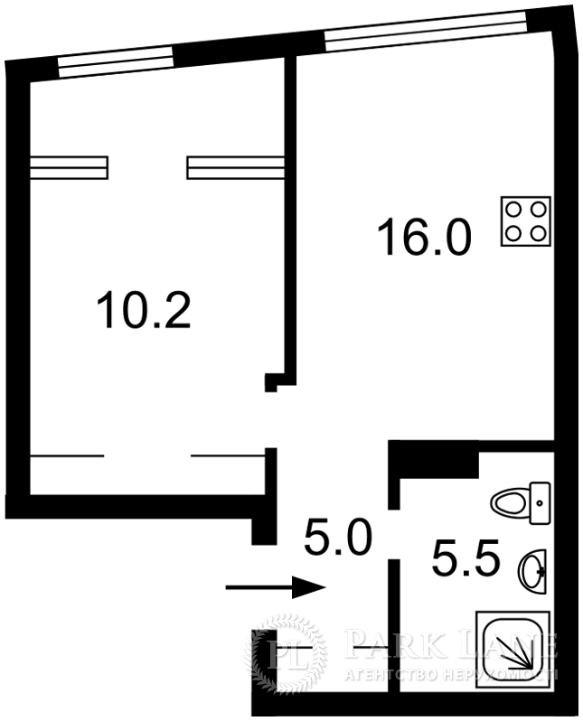 Квартира ул. Заречная, 2 корпус 2, Киев, J-29665 - Фото 2
