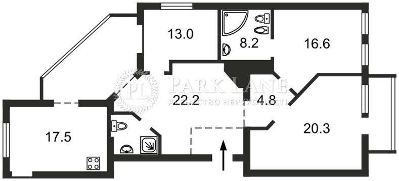 Квартира вул. Шота Руставелі, 20б, Київ, J-29686 - Фото 2