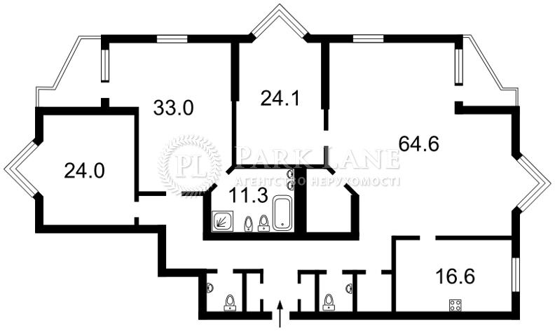 Квартира ул. Коновальца Евгения (Щорса), 32г, Киев, N-22371 - Фото 2