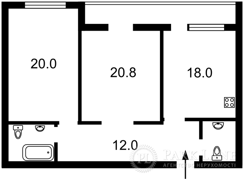 Квартира ул. Лейпцигская, 13а, Киев, Z-707271 - Фото 2