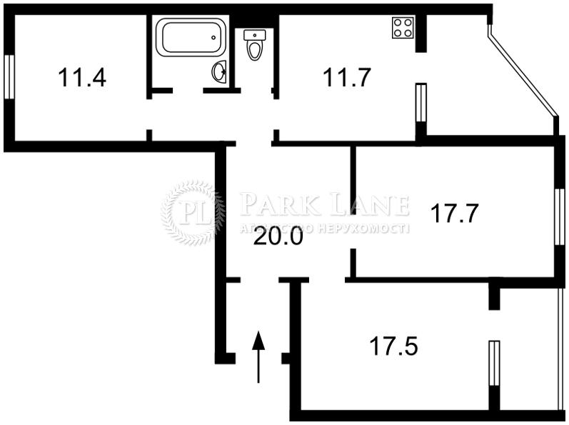 Квартира ул. Милютенко, 17в, Киев, Z-704817 - Фото 2
