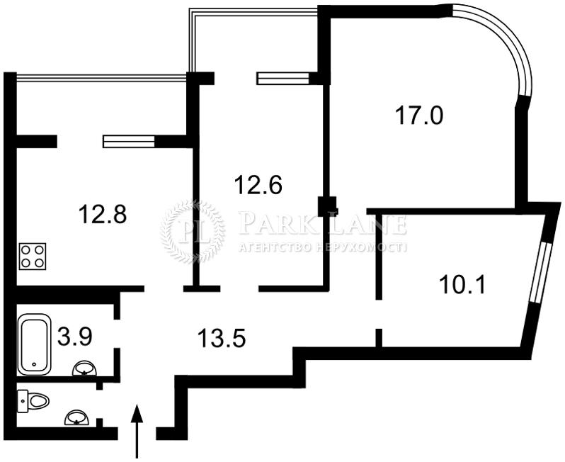 Квартира ул. Клеманская, 7 корпус 2, Киев, I-31656 - Фото 2