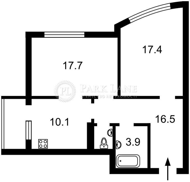 Квартира ул. Никольско-Слободская, 3а, Киев, D-36675 - Фото 2