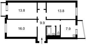 Квартира B-101461, Курчатова Академіка, 21, Київ - Фото 3