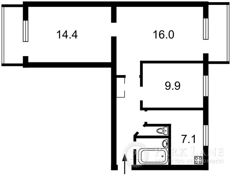 Квартира ул. Волгоградская, 39, Киев, Z-716953 - Фото 2