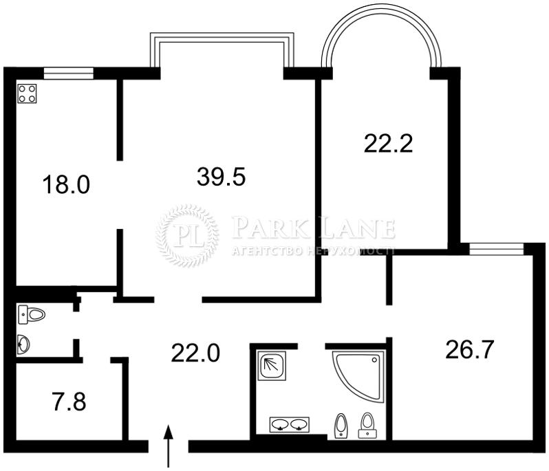 Квартира ул. Институтская, 18а, Киев, B-101523 - Фото 2