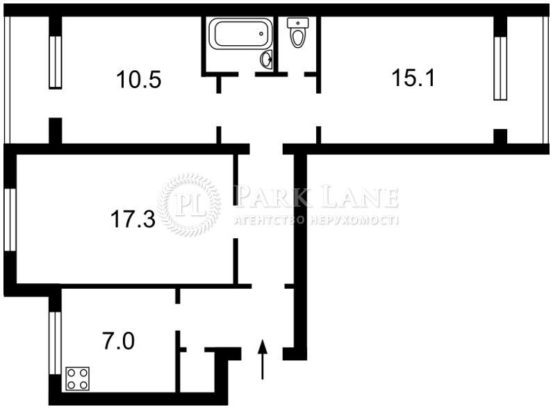 Квартира ул. Уманская, 25 корпус 1, Киев, X-16713 - Фото 2