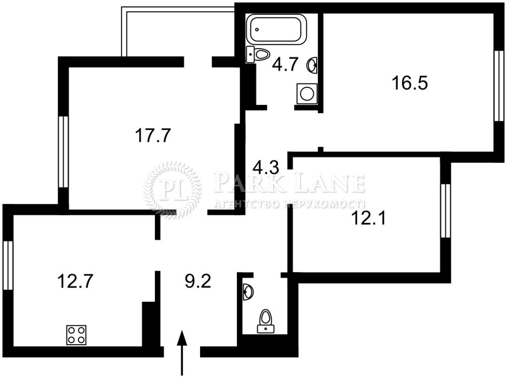 Квартира ул. Пчелки Елены, 5а, Киев, L-28031 - Фото 2