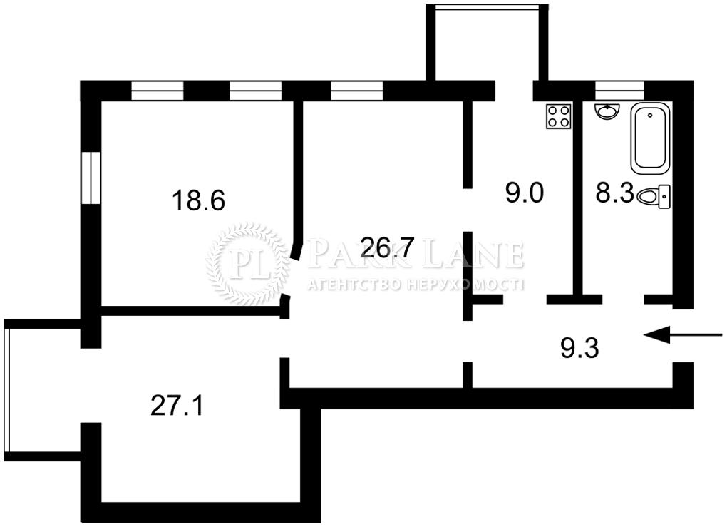 Квартира ул. Винниченко Владимира (Коцюбинского Юрия), 12, Киев, Z-720808 - Фото 2