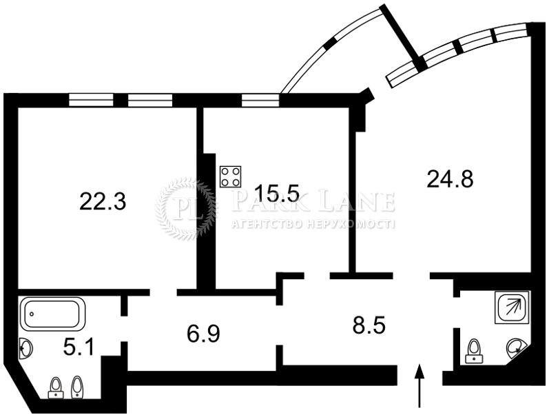 Квартира Дружбы Народов бульв., 14/16, Киев, Z-720220 - Фото 2
