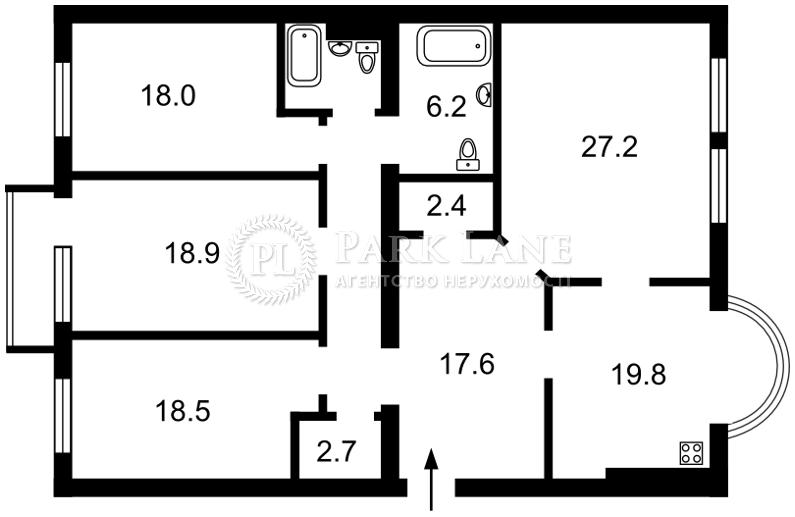 Квартира ул. Черновола Вячеслава, 25, Киев, L-28059 - Фото 2