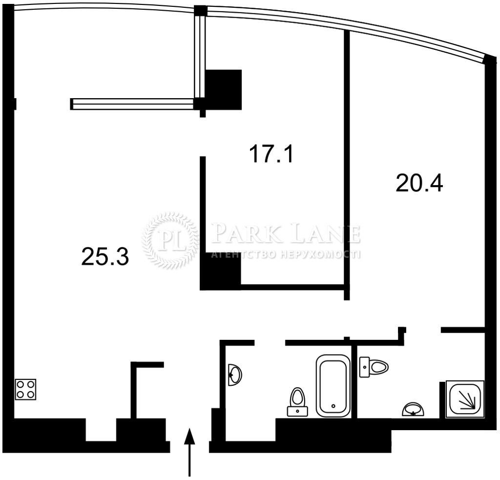 Квартира ул. Иоанна Павла II (Лумумбы Патриса), 12 корпус 1, Киев, K-30889 - Фото 2