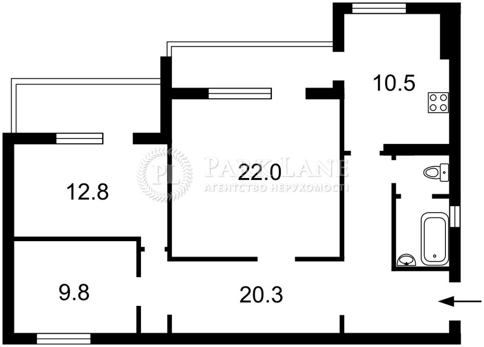 Квартира Z-701963, Мазепы Ивана (Январского Восстания), 12б, Киев - Фото 5