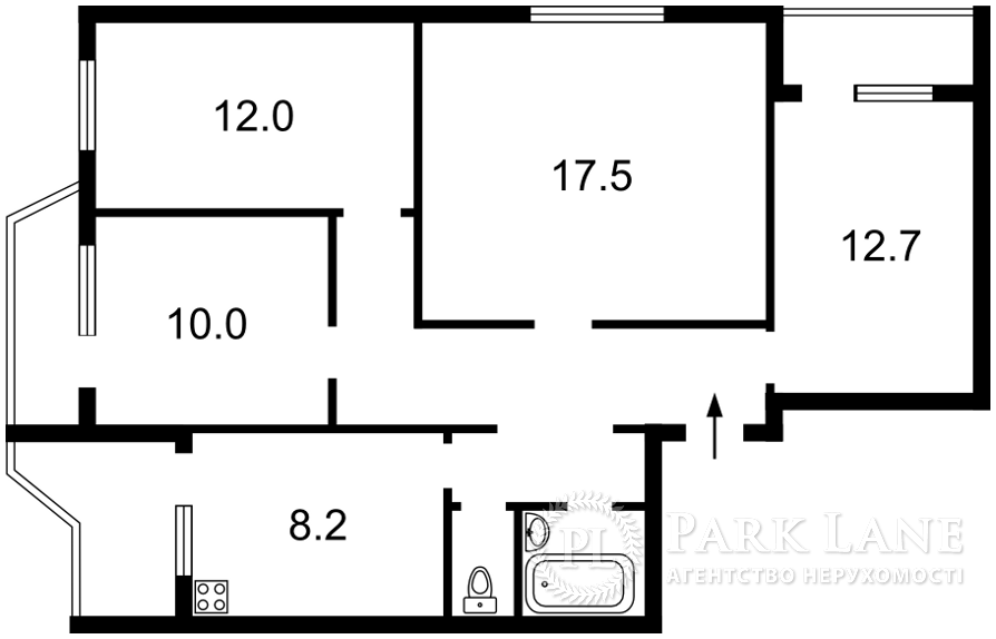 Квартира ул. Драгоманова, 20, Киев, Z-726612 - Фото 2