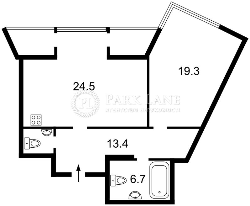 Квартира R-36524, Маланюка Евгения (Сагайдака Степана), 101 корпус 29, Киев - Фото 3