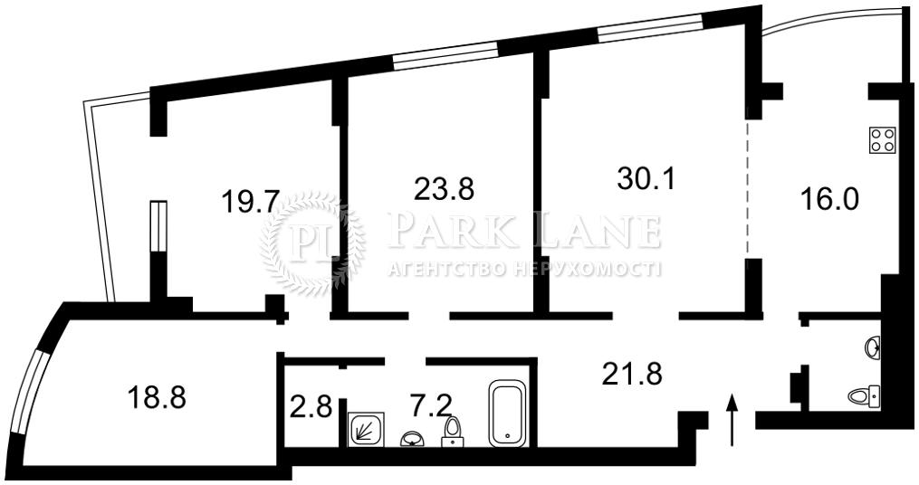 Квартира ул. Окипной Раиcы, 10, Киев, Z-708092 - Фото 2