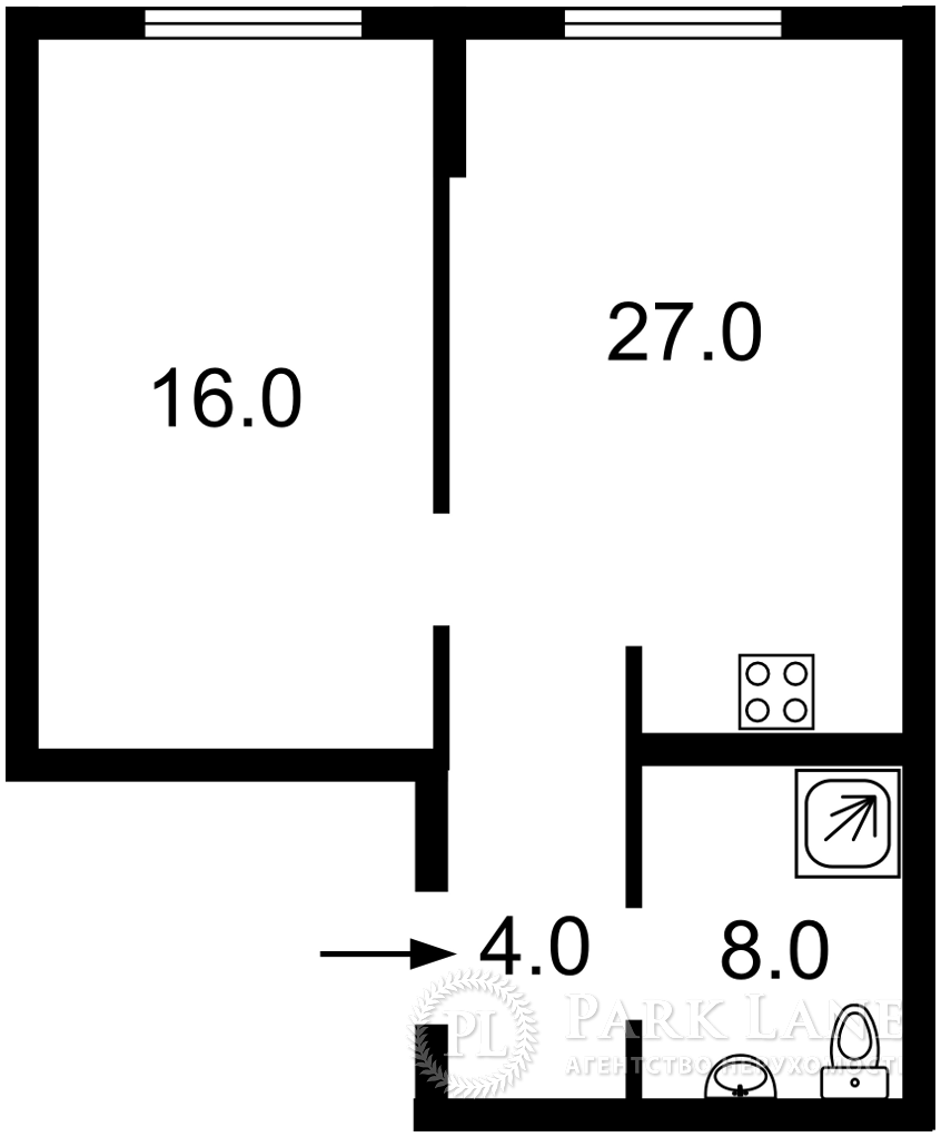 Квартира ул. Маланюка Евгения (Сагайдака Степана), 101 корпус 18-21, Киев, Z-713826 - Фото 2