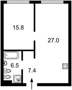 Квартира N-21821, Звіринецька, 72 корпус 2, Київ - Фото 8