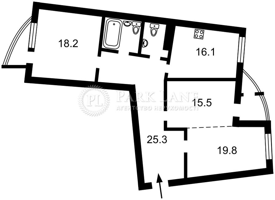 Квартира ул. Днепровская наб., 19, Киев, Z-738289 - Фото 2