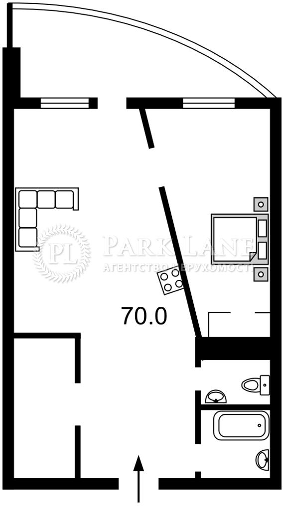 Квартира Лабораторный пер., 7, Киев, I-32243 - Фото 2