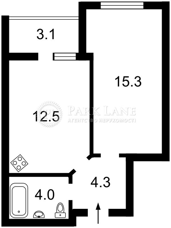 Квартира ул. Радченко Петра, 27-29 корпус 1, Киев, K-31201 - Фото 2