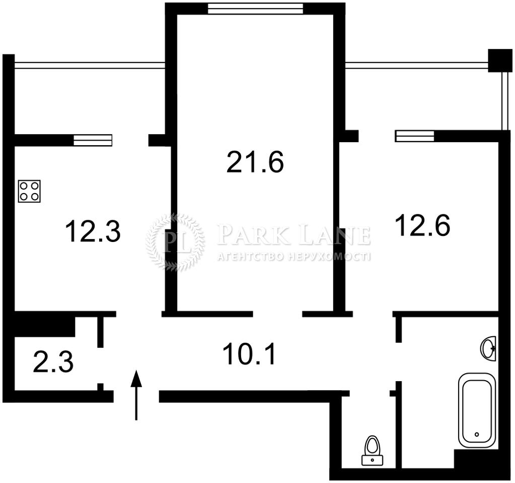 Квартира ул. Семьи Кульженко (Дегтяренко Петра), 1 корпус 22, Киев, K-31229 - Фото 2