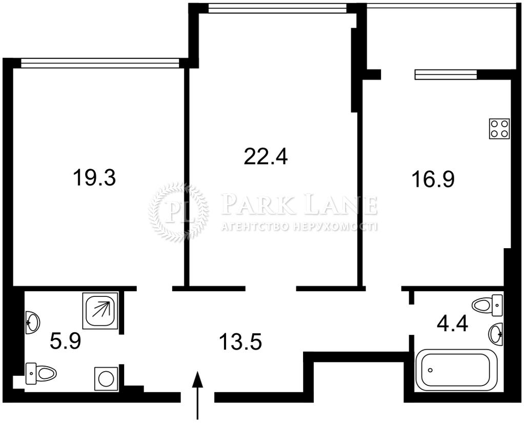 Квартира ул. Драгомирова Михаила, 3, Киев, Z-740245 - Фото 2