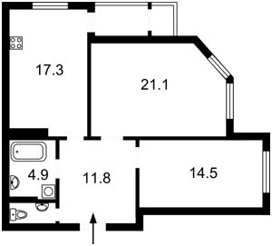 Квартира B-102008, Генерала Алмазова (Кутузова), 18/7, Киев - Фото 5
