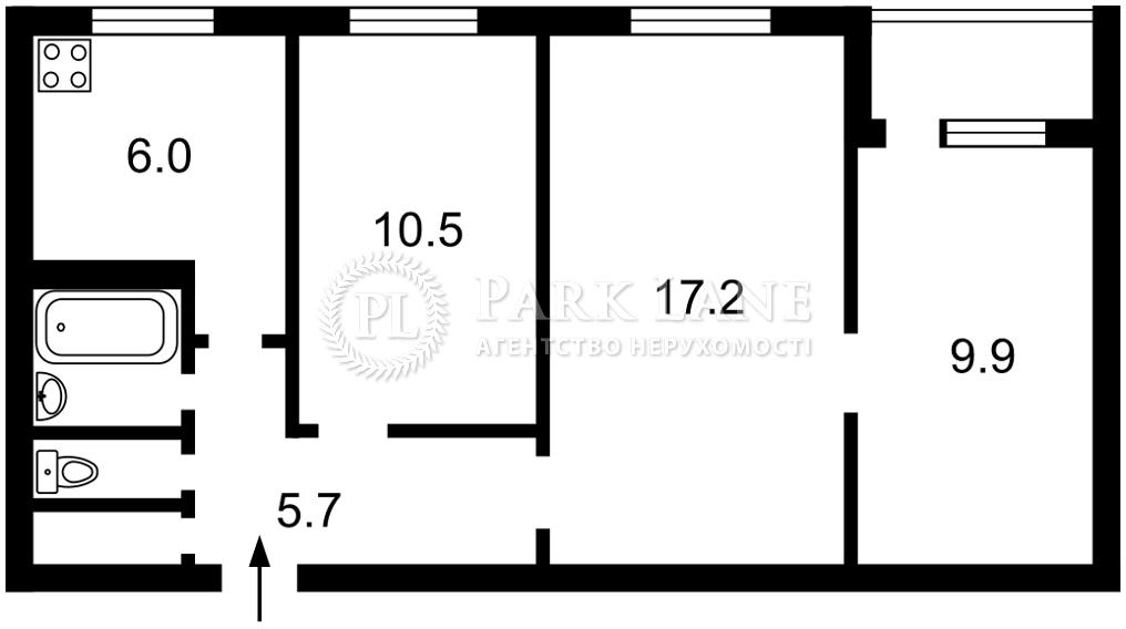 Квартира ул. Архипенко Александра (Мате Залки), 3а, Киев, K-31301 - Фото 2