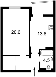 Квартира R-35488, Маланюка Евгения (Сагайдака Степана), 101 корпус 29, Киев - Фото 2